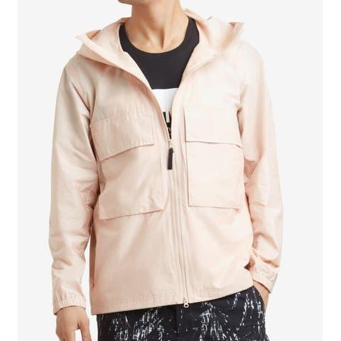 Kenneth Cole Rose Pink Mens Size XL Hooded Windbreaker Jacket