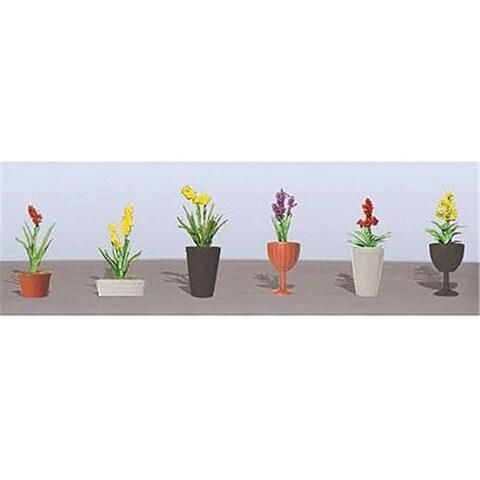 JTT Scenery JTT95568 Assorted Potted Flower Plants - Pack of 6