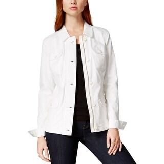 Tommy Hilfiger Womens Denim Jacket Denim White Washed