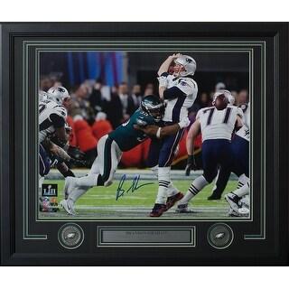 Brandon Graham Signed Framed 16x20 Eagles Super Bowl 52 Strip Sack Photo JSA