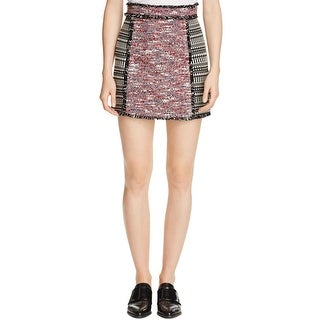 French Connection Womens Mini Skirt Textured Pixelated