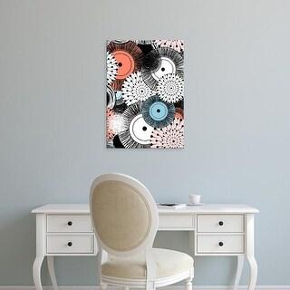 Easy Art Prints GraphINC's 'Flowers and Design' Premium Canvas Art