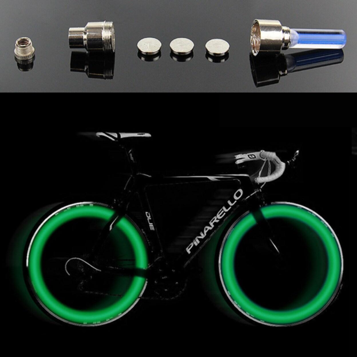 1 Pack Neon LED Tire Wheel Valve Stem Cap Light For Car Bike Bicycle Motorcycle