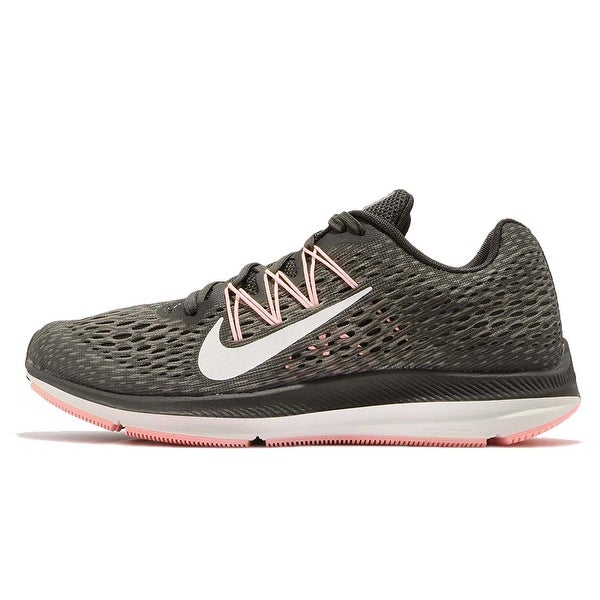 cheap for discount c87b3 758e8 Shop Nike Women Air Zoom Winflo 5 Running Shoes Newsprint ...