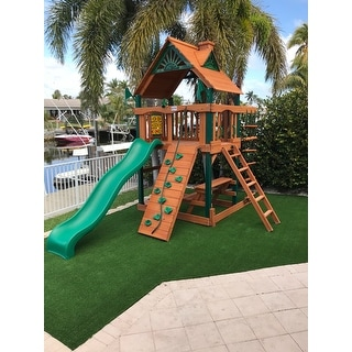Gorilla Playsets Chateau Tower Cedar Swing Set with Timber Shield Posts