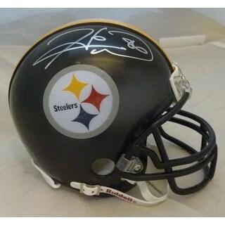 Hines Ward Autographed Pittsburgh Steelers Mini Helmet JSA