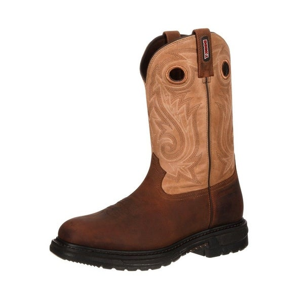Rocky Western Boots Mens Original Ride CT Waterproof Brown