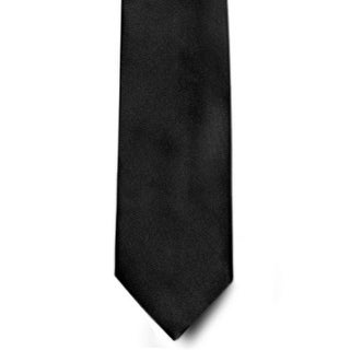 Men's 100% Microfiber Black Tie