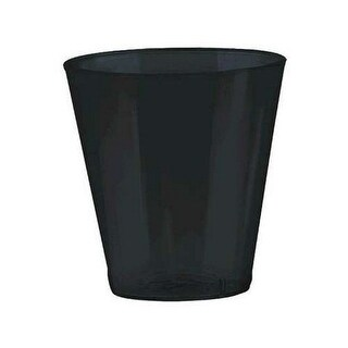 Amscan 357918.10 Black Plastic Shot Glasses - Pack of 600