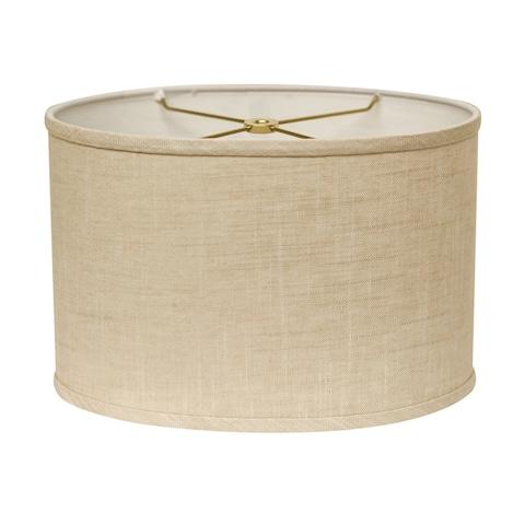 Cloth & Wire Slant Retro Oval Hardback Lampshade with Washer Fitter, Stonewash
