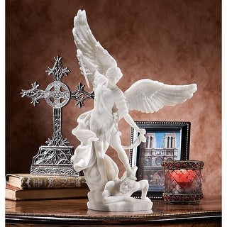 Design Toscano St. Michael the Archangel Statue Collection: Marble Resin Statue - 10 x 5 x 15
