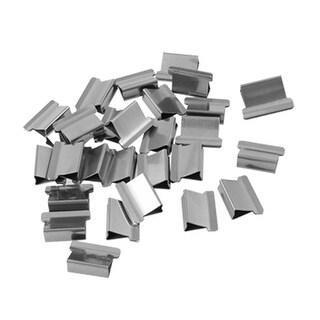 Unique Bargains 29 Pieces Mini Metal Office Paper Fast Clam Clips