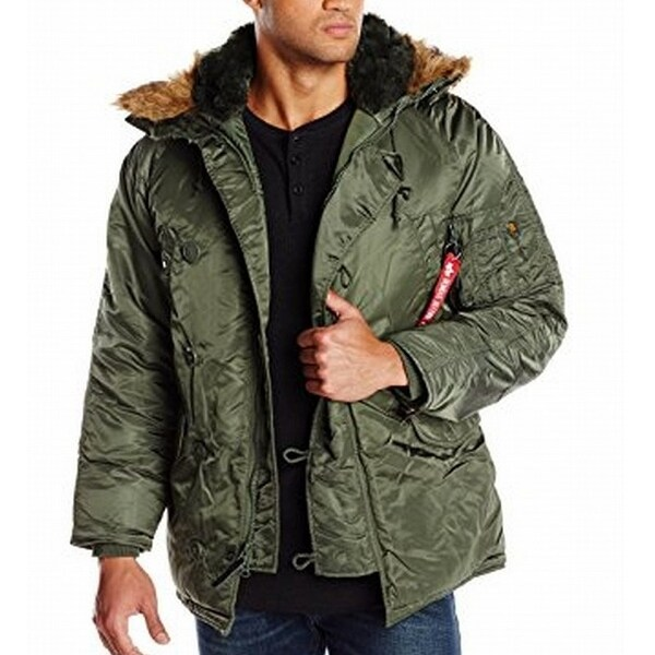 b95cfe0bbab3e Shop Alpha Industries NEW Green Mens Size 2XL Puffer Parka Full-Zip Jacket  - Free Shipping On Orders Over  45 - Overstock - 21149889