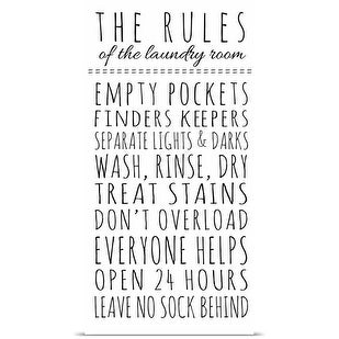 Anna Quach Poster Print entitled Rules of the Laundry Room
