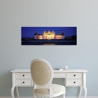 Easy Art Prints Panoramic Images's 'Chateau de Chambord Loire France' Premium Canvas Art