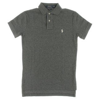Polo Ralph Lauren Mens Custom Fit Mesh Shirt Polo Shirt Cotton Heathered - XS