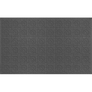 843540024 Water Guard Star Quilt Mat in Charcoal - 2 ft. x 4 ft. ft.