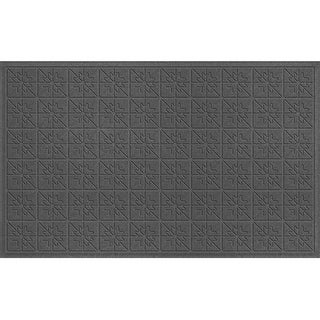 843540035 Water Guard Star Quilt Mat in Charcoal - 3 ft. x 5 ft.