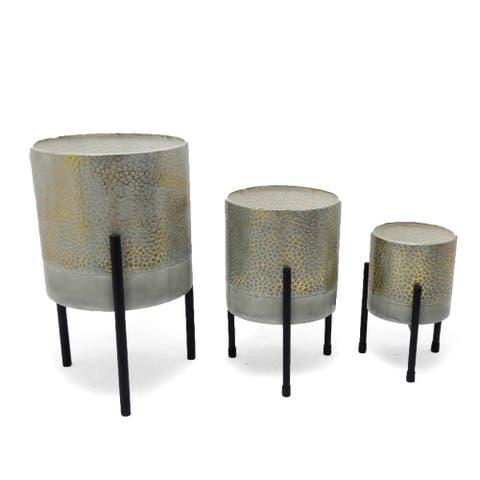 "Ambre Table Top Planters, S3 - (S) 5""R x 8"" (M) 6.5""R x 10"" (L) 8""R x 13.5"""