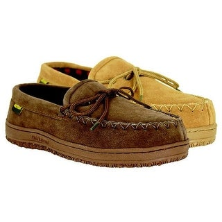 Old Friend Men's Wisconsin Plaid Lined Loafer Moccasin 588161 Chocolate (More options available)