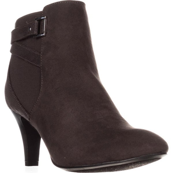 KS35 Majar Back Strapped Ankle Booties, Grey