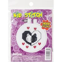 "Kid Stitch Love Cat Counted Cross Stitch Kit-3"" Round 11 Count"