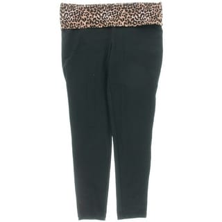 Material Girl Womens Juniors Animal Print Pull On Yoga Legging