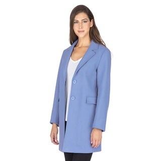 Link to Haute Edition Women's Single Breasted Wool Blend Peacoat Winter Jacket Similar Items in Women's Outerwear