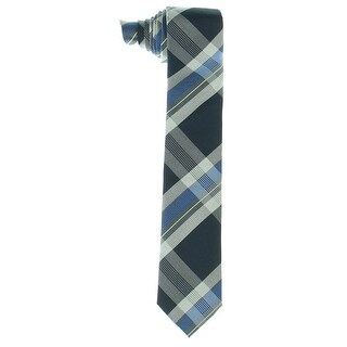 Kenneth Cole Reaction Mens Orchestra Neck Tie Plaid Textured - o/s