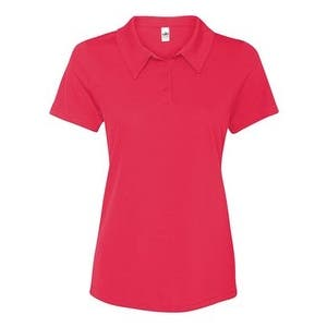 All Sport Women's Performance 3-Button Mesh Polo - Sport Red - XS