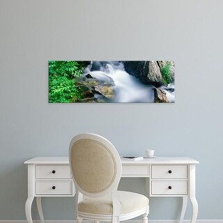 Easy Art Prints Panoramic Image 'Drain, North Fork Cascade Canyon, Grand Teton National Park, Wyoming' Canvas Art