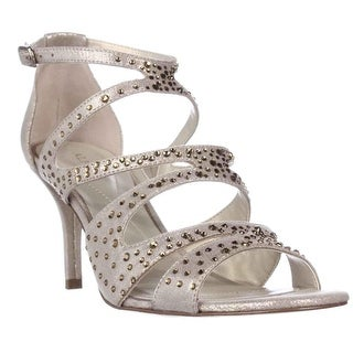 A35 Capucen Rhinestone Strappy Dress Sandals - Gold