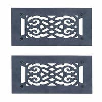 2 Heat Air Grille Cast Victorian 5.5 x 10 Overall