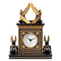 Design Toscano Temple of Anubis Egyptian Revival Sculptural Clock