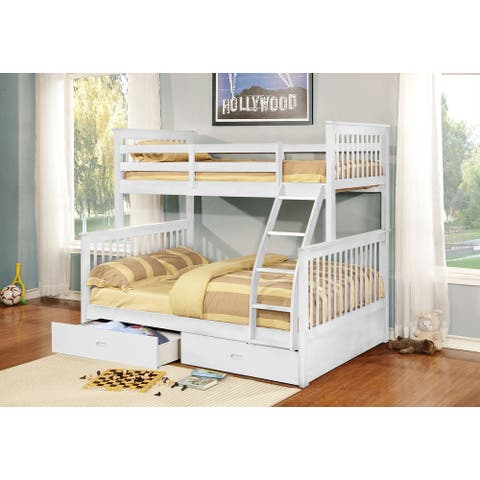 Carthew Convertible Twin Over Full Bunk Bed (Optional Storage or Trundle)