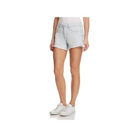 Joe's Jeans Womens Denim Shorts Frayed Hem Mid-Rise - 27