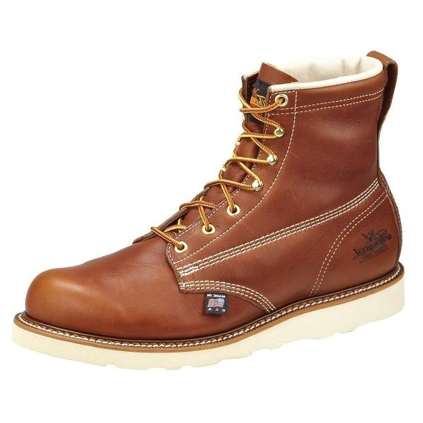 Thorogood Work Boots Mens Leather Wedges Plain Toe Tobacco 814-4355