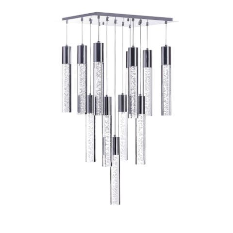 Finesse Decor - Sparkling Crystal Chandelier- 13 Pendant Round - large