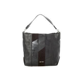 Nine West Womens Medley Up Hobo Handbag Faux Leather Convertible Large