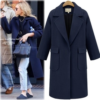 Link to Lapel A Buttoned Wool Coat Similar Items in Women's Outerwear