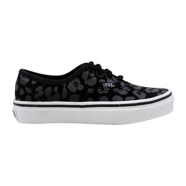 Shop Vans Authentic Black Leopard Suede