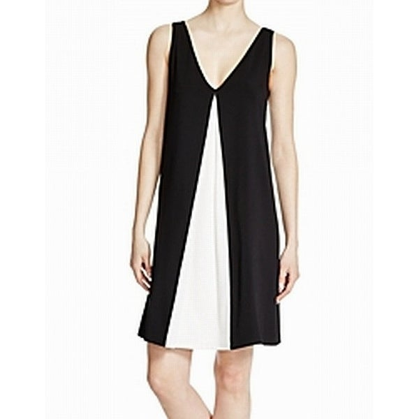Laundry by Shelli Segal Black Womens Size 4 Contrast Shift Dress