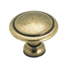 "Amerock 1-3/8"" Antq Brass Knob"