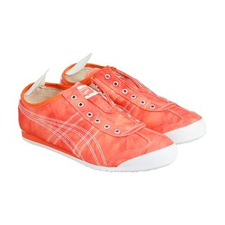 Onitsuka Tiger Mexico 66 Slip On Mens Orange Nylon Lace Up Sneakers Shoes