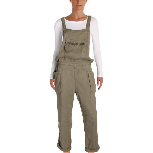 7d674513e1a5 Shop Free People Womens Overalls Linen Casual - Free Shipping Today ...