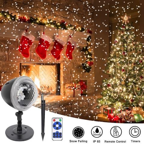 Snowflake Projector Lights Garden Decorative Lamp Lighting Waterproof Sparkling Landscape Holiday Christmas Decoration