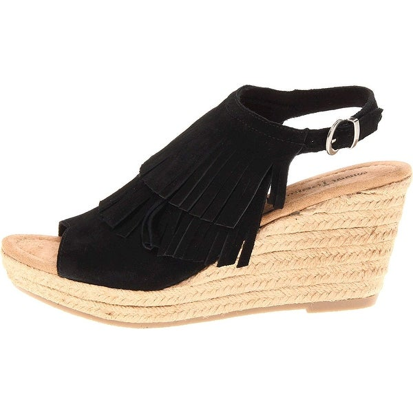 Minnetonka Womens Ashley Open Toe Casual Slingback Sandals - 5