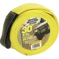"""Keeper 02942 Vehicle Recovery Strap With Protected Loop, 30'x4"""""""