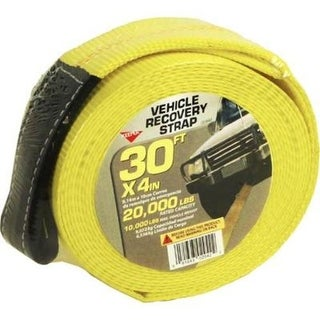 Keeper 02942 Vehicle Recovery Strap With Protected Loop, 30'x4""