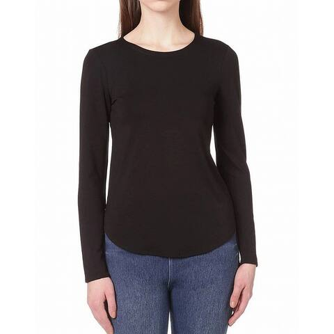 Cupio Womens Top Black Size Small S Shirttail Hem Long Sleeve Knit
